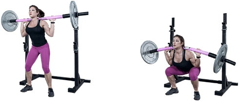 Squats with a flexible bar: a lot of impact on muscles with relatively little weight